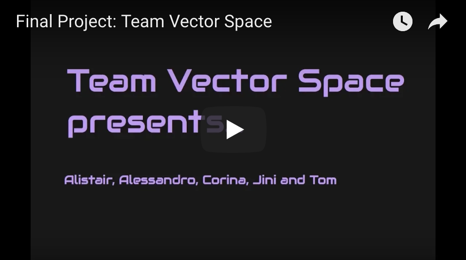 team vector space