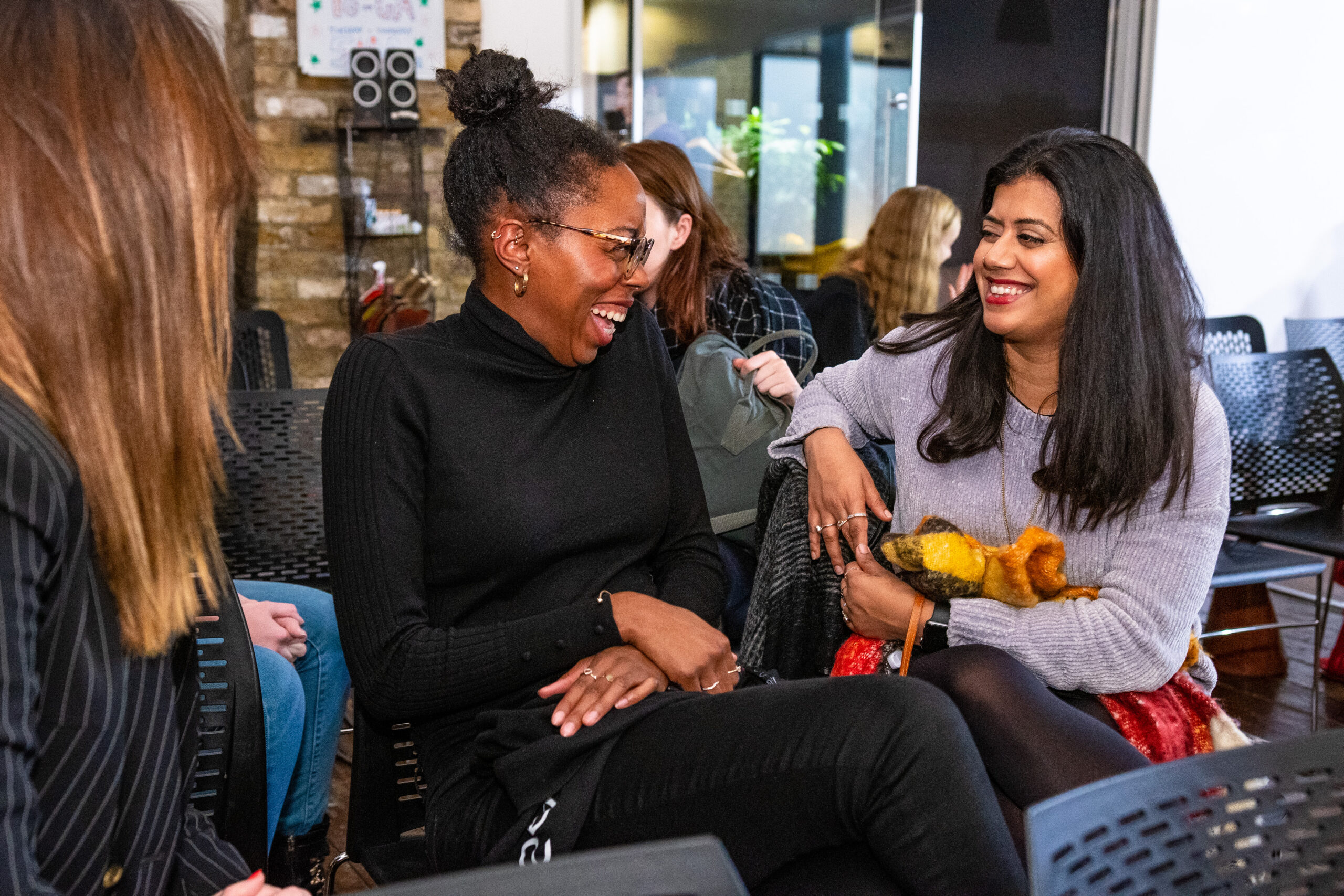 Women at a Makers event.